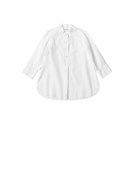 white khadi cotton shirt with buttons