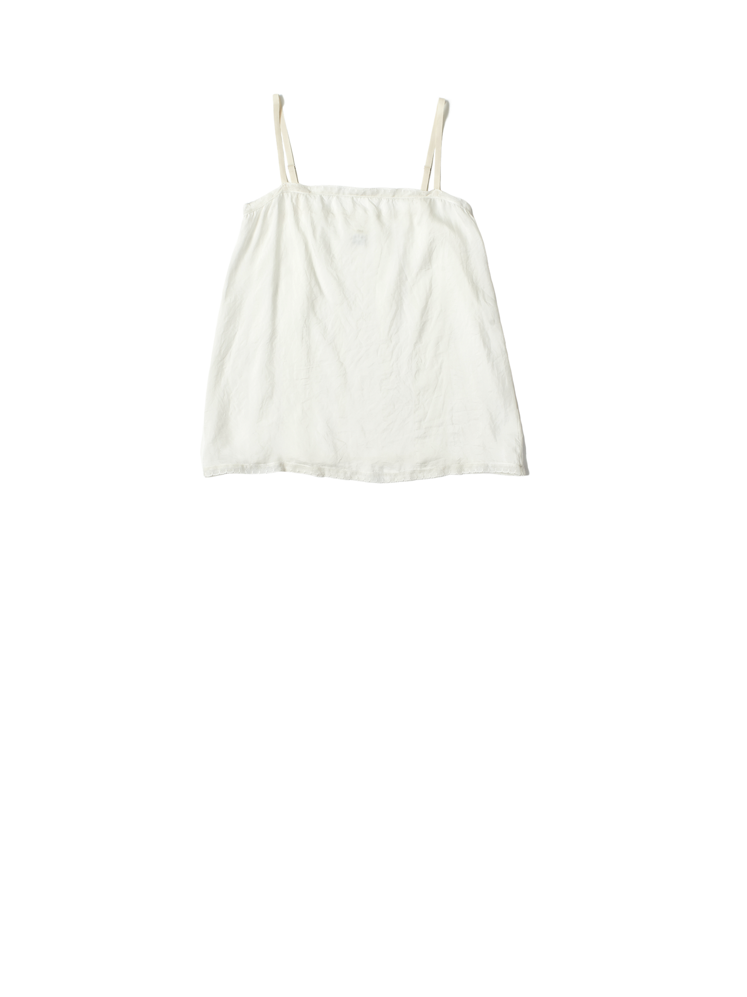 white khadi silk chemise top