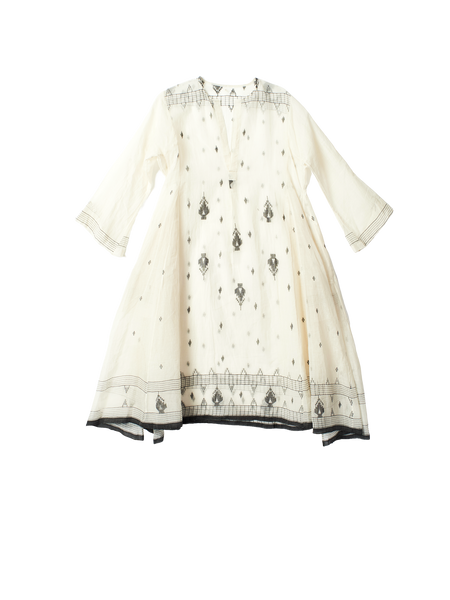 tunic dress with woven detail