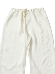 white silk trousers