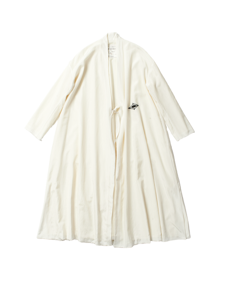embroidered white robe