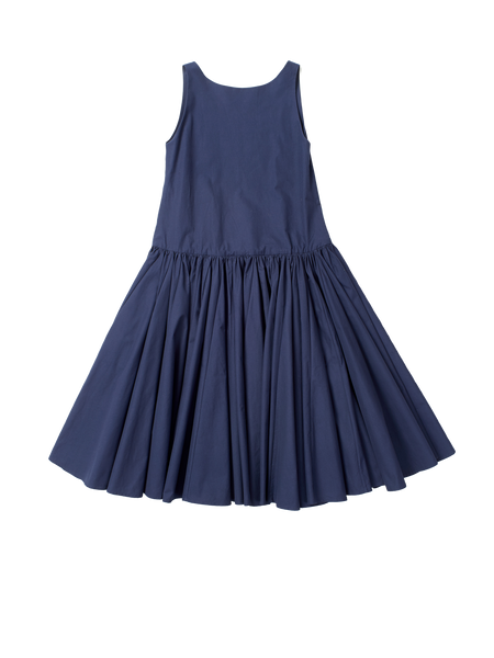 dark navy sleeveless dress