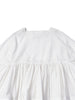 White crispy cotton dress