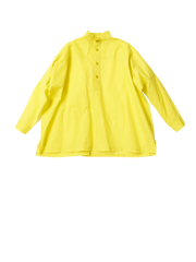 Yellow top with ruffled collar