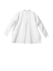 White ruffle collar shirt