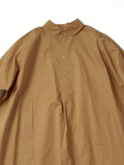 Wide brown buttoned down shirt