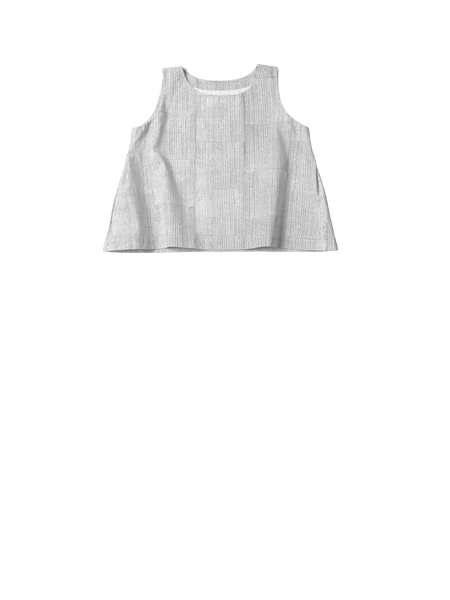 Thin stripe sleeveless top