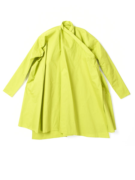 lime green crossover coat