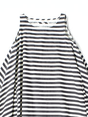 Horizontal stripe sleeveless dress
