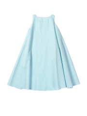 Blue crispy cotton dress