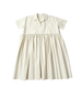 ivory dress with collar
