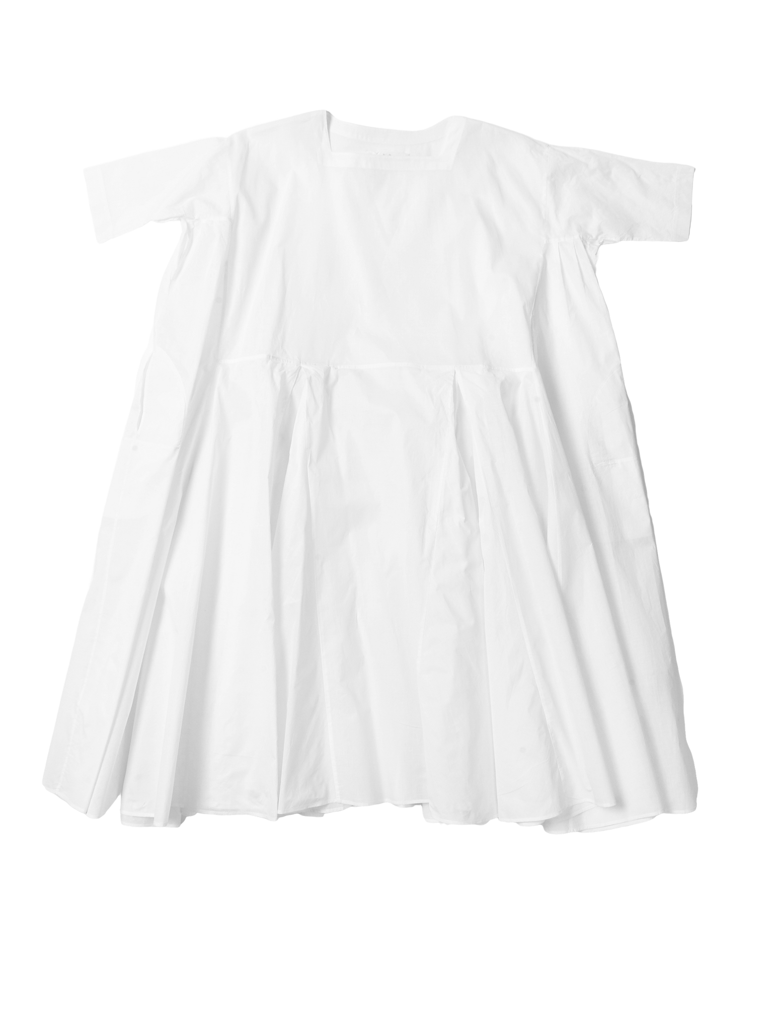 white pleat dress