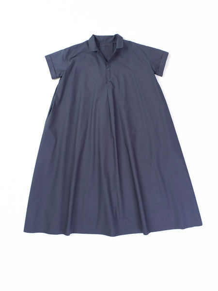 dark navy dress with buttons