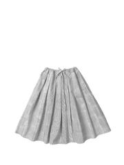 Thin stripe drawstring skirt