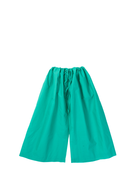 green wide leg trousers