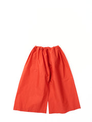 red draw string pants