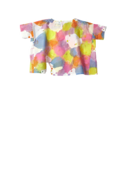 Multi coloured paint tshirt