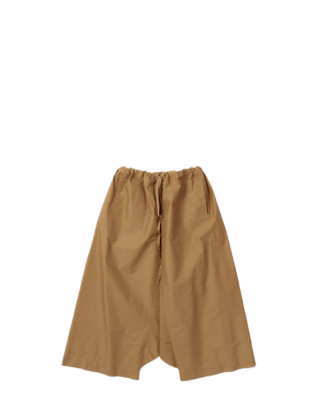 Brown crispy cotton trousers