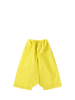 Yellow drawstring trousers.