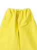 Yellow drawstring trousers with pockets