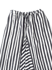 dark grey and white stripe trousers