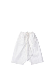 White drawstring baggy trousers