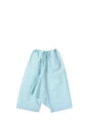 Light blue crispy cotton trousers