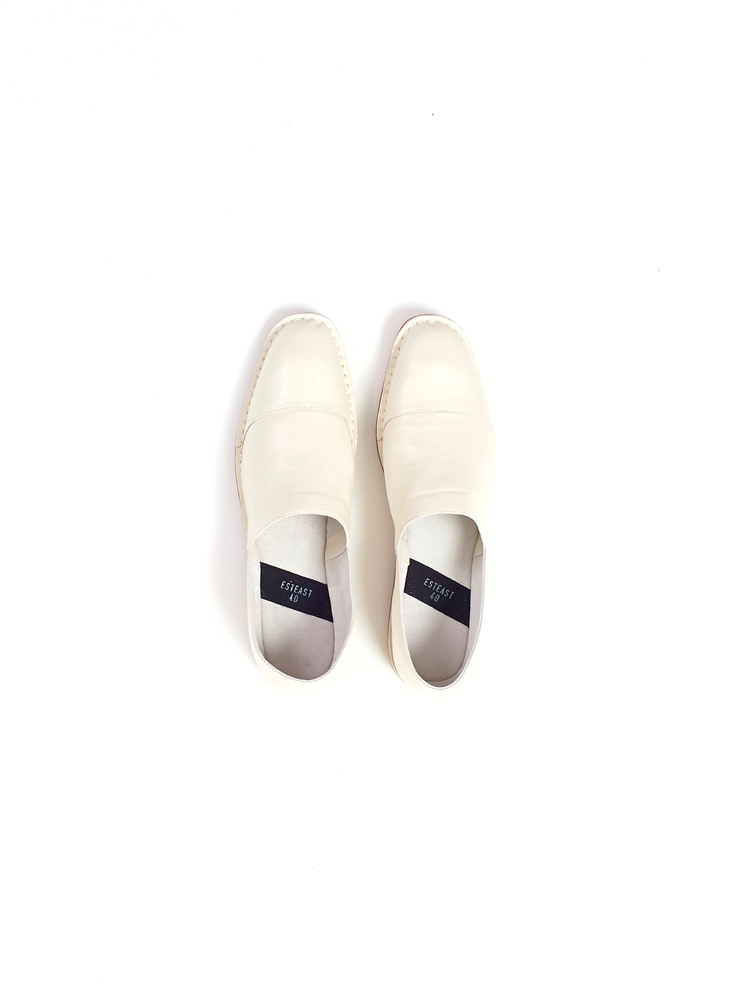 white slip on shoes