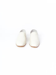 white handmade slip on shoes
