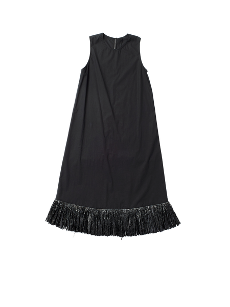 raffia fringe dress