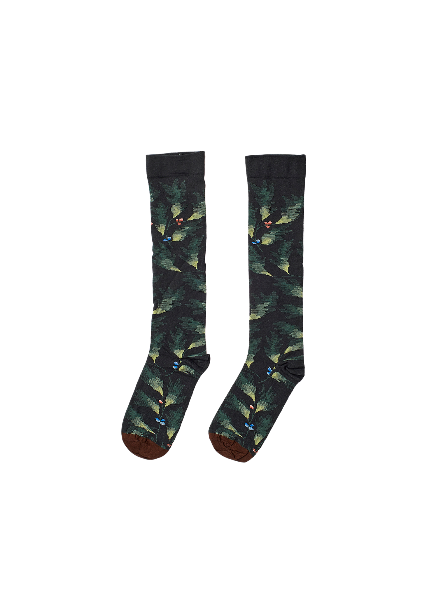 green leaf cotton socks