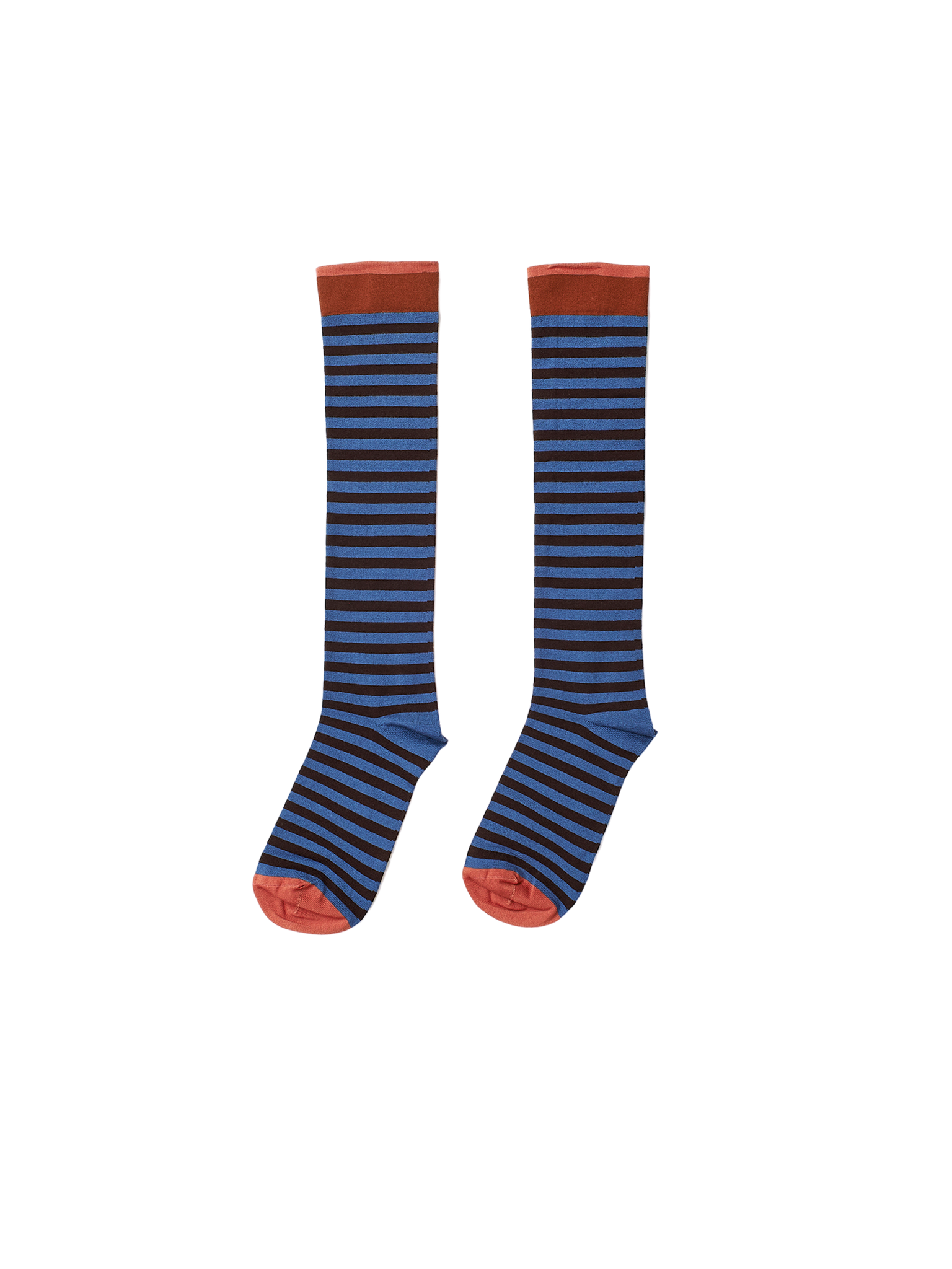 blue stripe cotton socks
