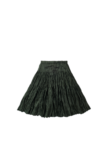 green tiered lightweight silk oopaloo skirt