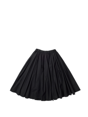 black cotton full gathered soleil skirt