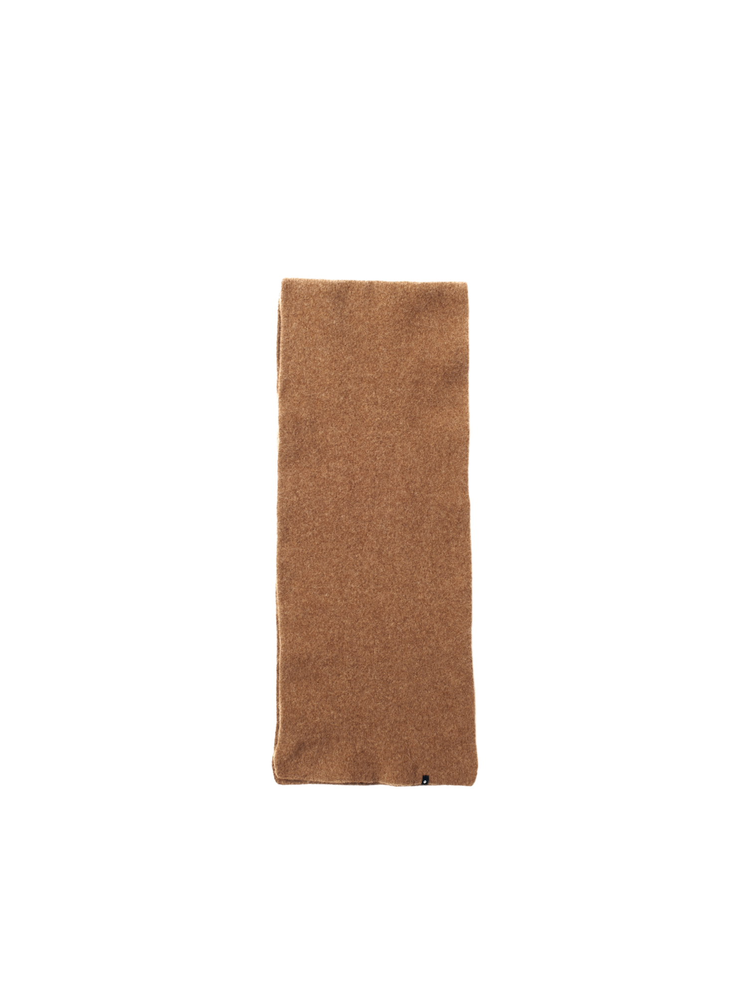 brown wool long CT scarf