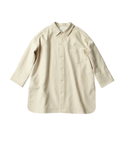 white cotton moleskin oversized carlo shirt jacket