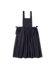 navy typewriter cotton apron style diona dress with side ties