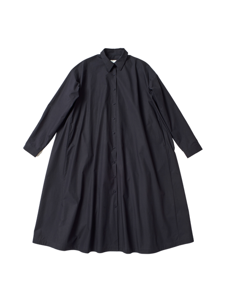 navy typewriter cotton button down domenica shirt dress