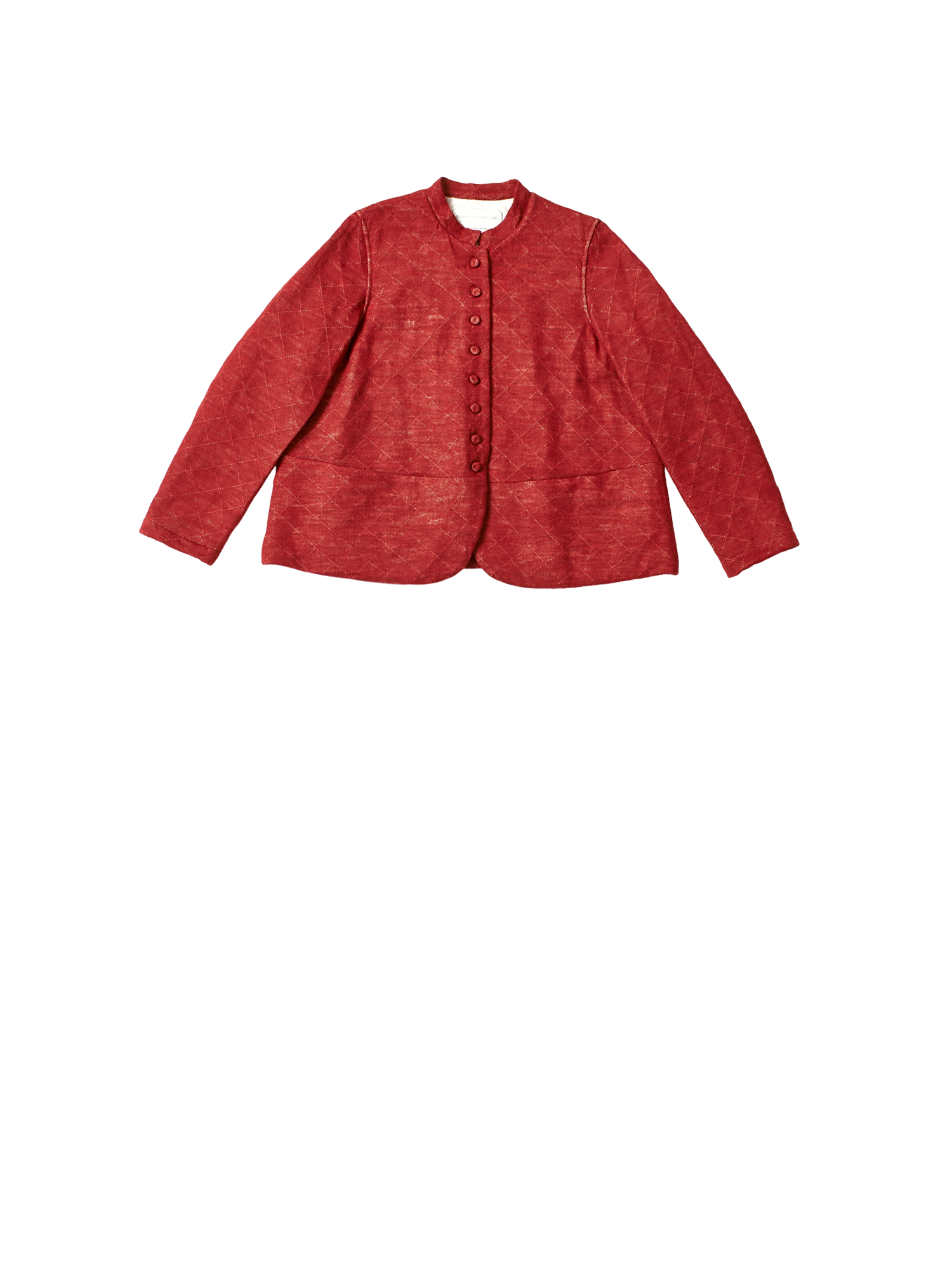 red padded organic wool jersey jessica jacket