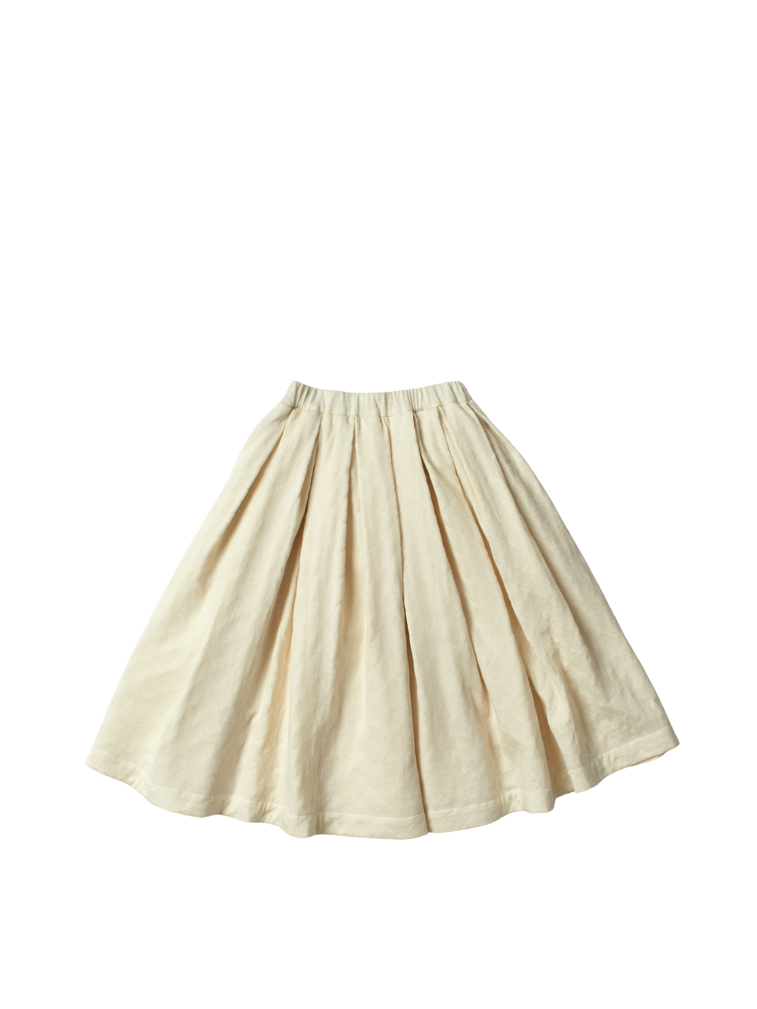 cream organic wool box pleat elastic waist solange skirt