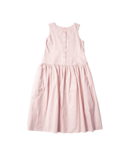 pink cotton pinafore elba dress