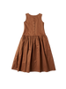 brown cotton pinafore elba dress