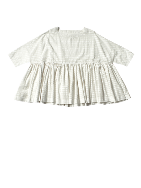 white stripe khadi cotton flora top