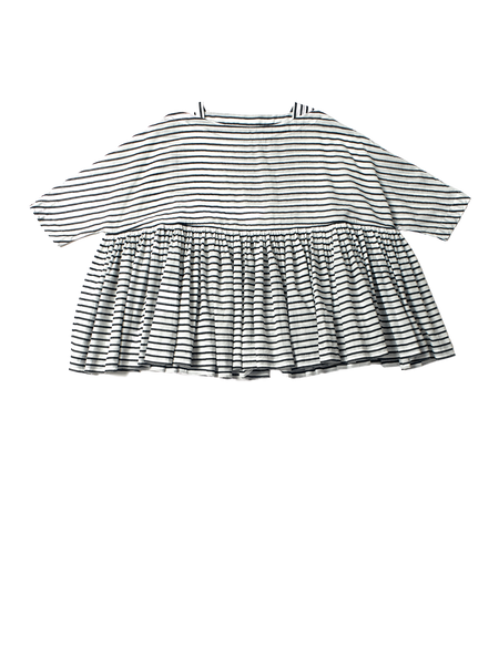 black and white stripe khadi cotton flora top