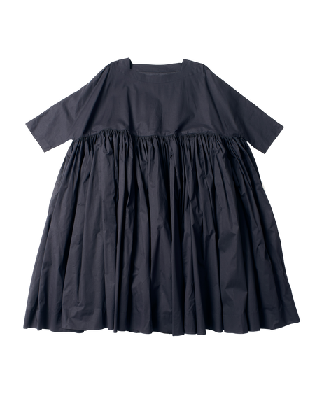 ruffled full length blue cotton florence dress