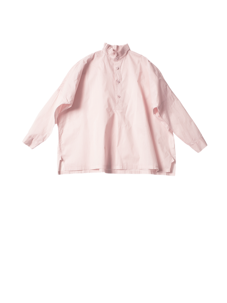 ruff collar pink cotton fran shirt