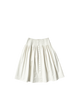 white denim full pleated nina skirt