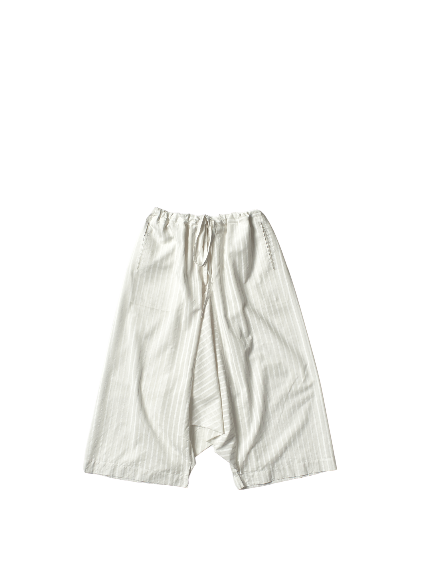 white stripe khadi cotton wide tom trousers