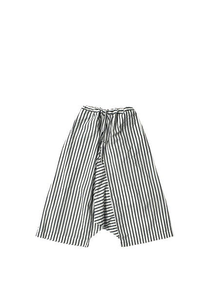 black and white stripe khadi cotton wide tom trousers