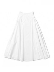 white cotton poplin basic petticoat maisy dress